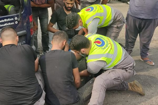 الدفاع المدني يتصدى لحادث سير في بلدة برج الشمالي