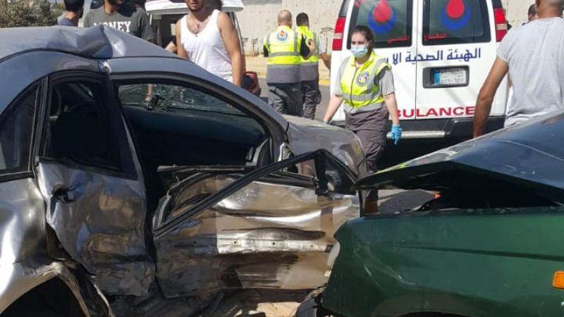 الفرق الاسعافية تتصدى لحادث  سير في كفركلا