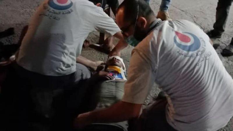 الفرق الاسعافية تتصدى لحادث سقوط مواطن في النبطية الفوقا