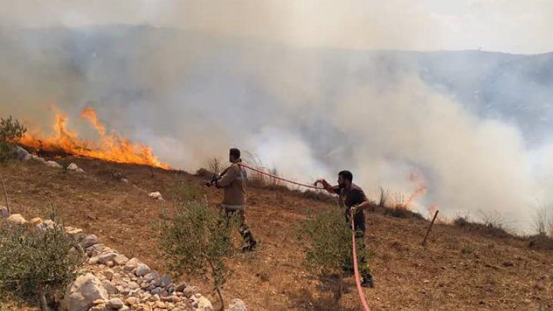 فرق التطوع في الدفاع المدني - الهيئة تخمد حريقاً بين بلدات الزرارية وصير الغربية وبريقع