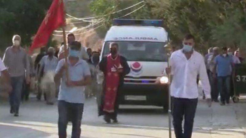 بالفيديو:  دفن حالة كورونا في منطقة راس بعلبك
