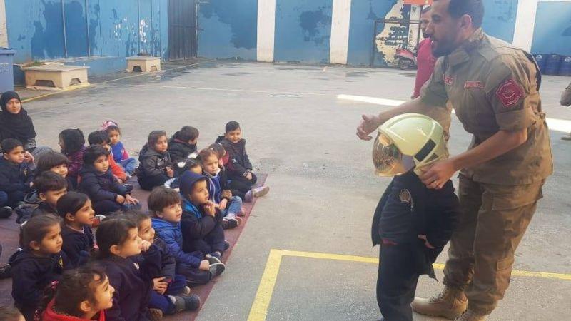 """ارشادات عامة لفوج اطفاء الضاحية  لمدرسة \""""الامير\"""" في برج البراجنة"""