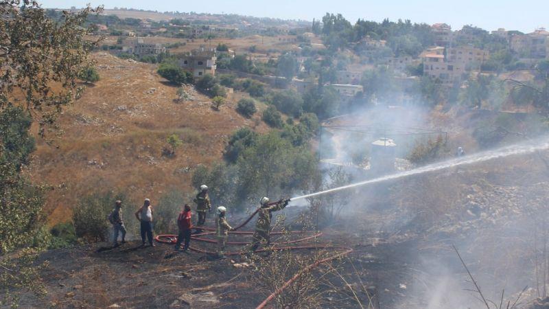 بالصور: فوج اطفاء اتحاد بلديات قضاء بنت جبيل يخمد الحرائق التي شبت في بنت جبيل الطيري حانين وعيترون