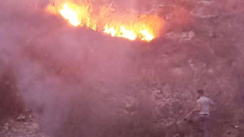 إخماد حريق أعشاب في بلدة طيردبا