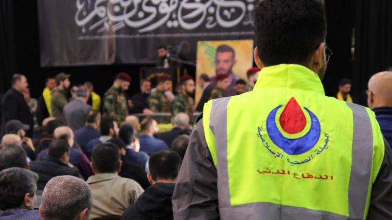 بالفيديو: الدفاع المدني يواكب تشييع الشهيد المجاهد أحمد محمود حمدان