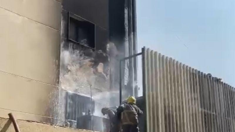 فوج اطفاء الضاحية يخمد حريقاً شب في خزان مازوت في حارة حريك