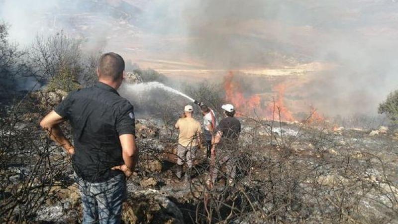 اخماد حريق ضخم اندلع في احراش (كفرتبنيت_الخردلي)