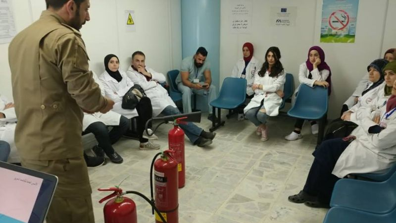 ورشة اطفاء لفوج اطفاء الضاحية في مركز #الكيان