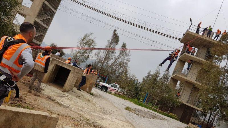 الدفاع المدني ينفذ دورة انقاذ ورفع انقاض لفرق التطوع في بلدة عيتا الشعب