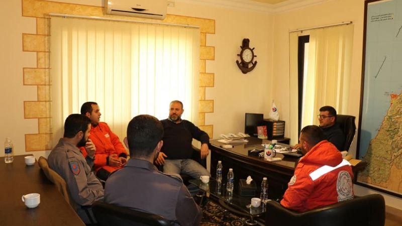 زيارة وفد من جمعية معروف سعد الإجتماعية للدفاع المدني - المنطقة الثانية