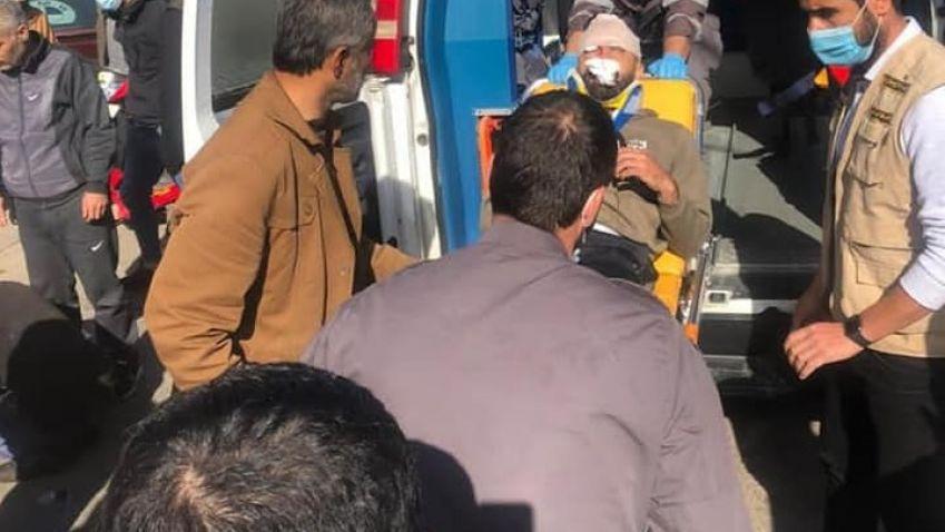 بالصور: الفرق الاسعافية في مديرية الجنوب الثانية تتصدى لحادث سير في بلدة الدوير