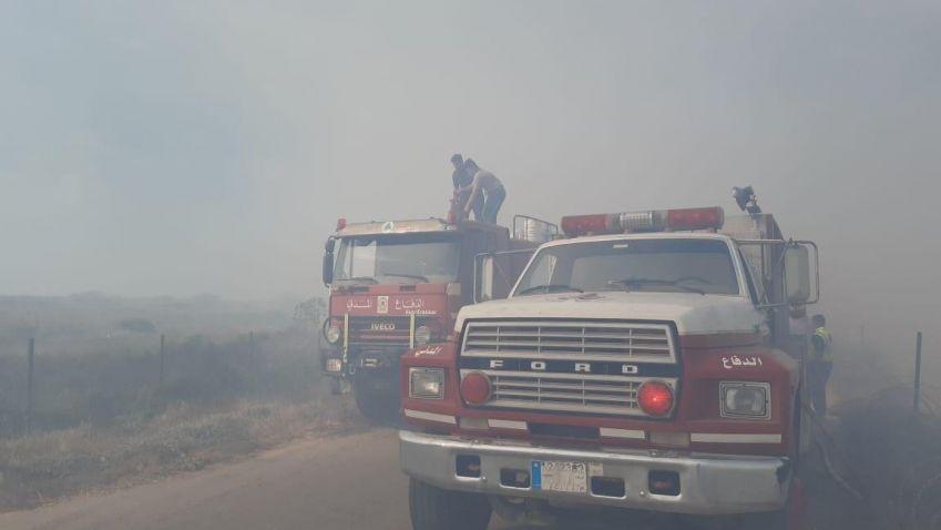 بالصور: فرق الاطفاء تتصدى 319000 كلم مربع من الحرائق في الجنوب
