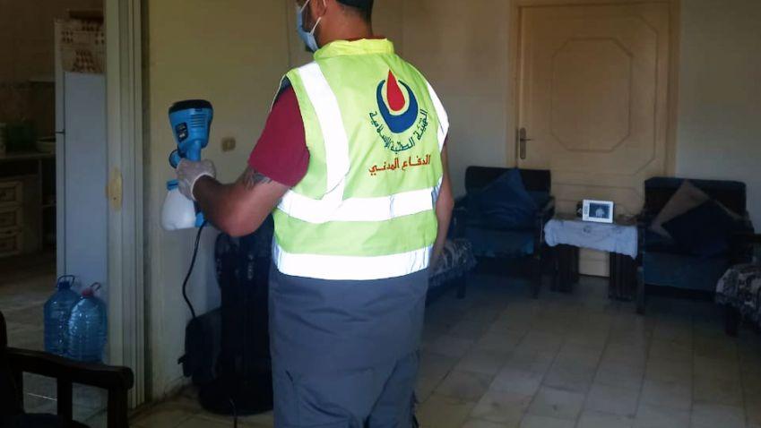113 خدمة قدمها فريق الدفاع المدني في مركز قلاوية التطوعي خلال شهر اب 2021