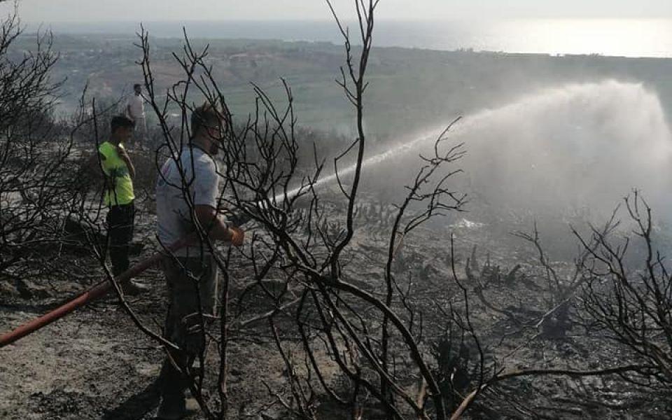 بالصور : اخماد حريق ضخم في بلدة المطرية الجنوبية